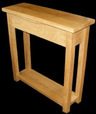 Handmade Solid Oak Hall / Console Table